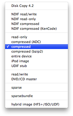 compression selection