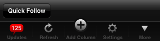 Tweetdeck's More Button