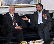 Mahmoud Abbas, President of Palestinian Authority, with Ramadan Shallah, Secretary General of Islamic Jihad