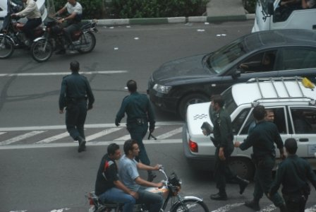 Military forces around the Interior Ministry