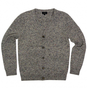 apc-flecked-cashmere-cardigan