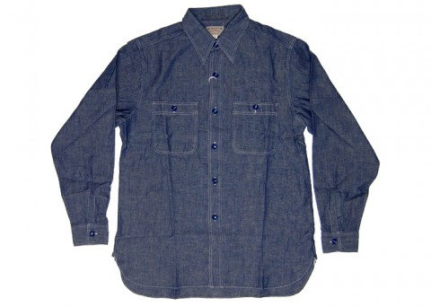 Buzz Rickson chambray work shirt 01