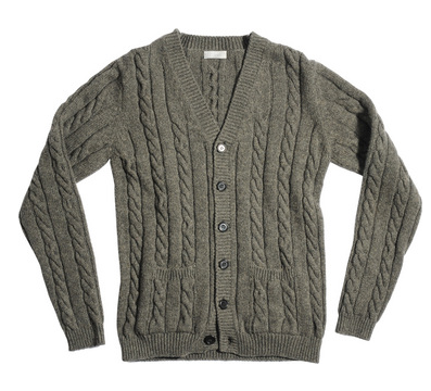 Margaret Howell cable cardigan-1