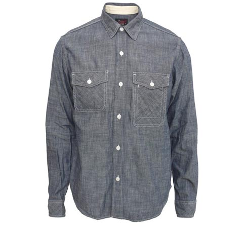 WOOLEN MILLS BY WOOLRICH Cruiser Chambray Shirt 01