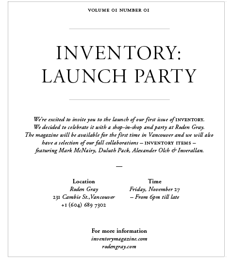 Inventory Flyer party1