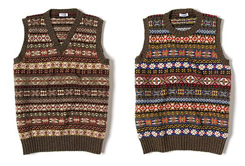 Drakes Fair Isle vest