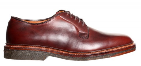 Alden Crepe Plain Toe Blucher-1