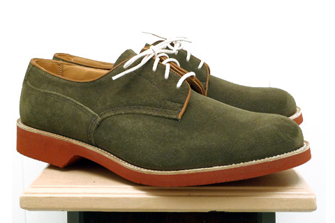 Tricker's Turf Green Suede Kendal