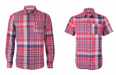 APC - Red Plaid Cotton Shirt