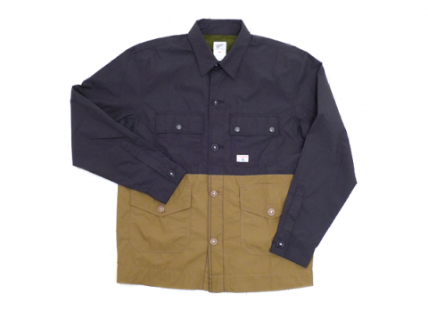 Garbstore Navy Split Mod Flight Shirt
