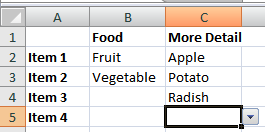 Problem - No food entry means no validation on more detail entry