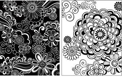Jess Volinski Illustration Surface Design Blog Black White
