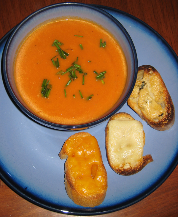 Tomato Soup w/ mini grilled cheese