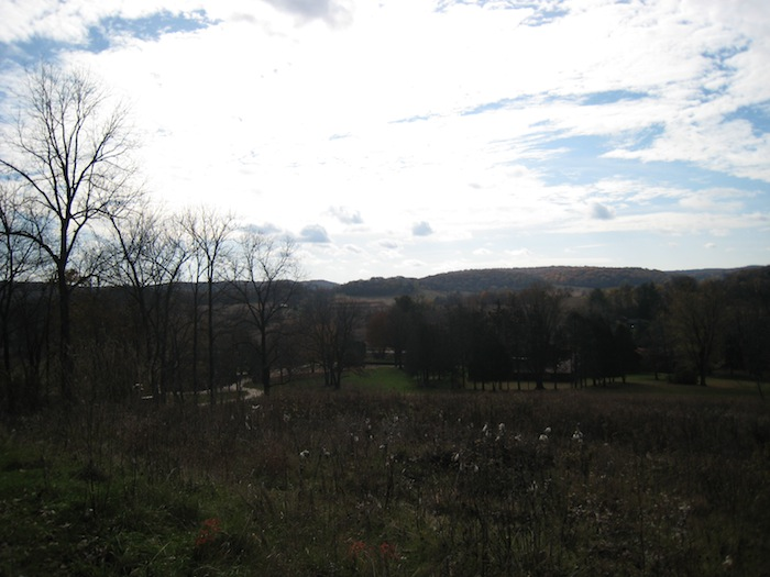 View from the hill that the Romeo and Juliet Windmill near Spring Green, Wisconsin