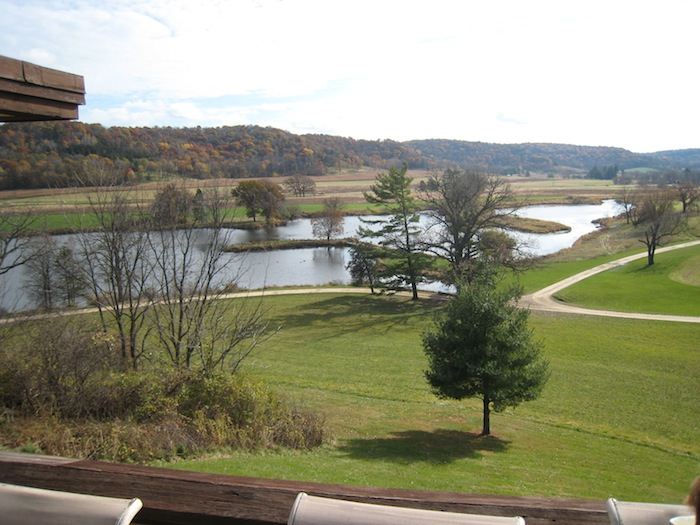 View from Taliesin terrace near Spring Green, Wisconsin