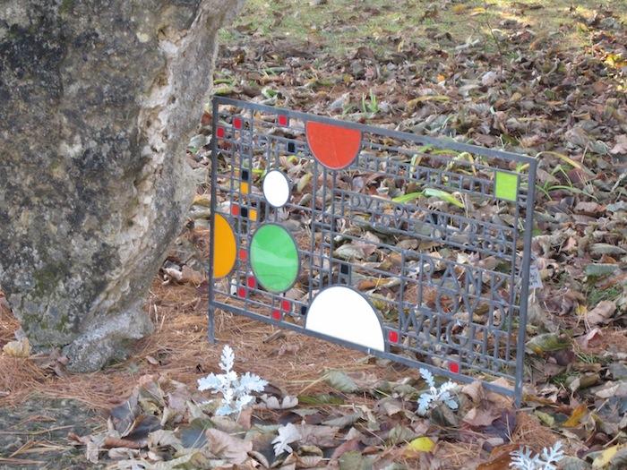 Frank Lloyd Wright grave marker near Spring Green Wisconsin