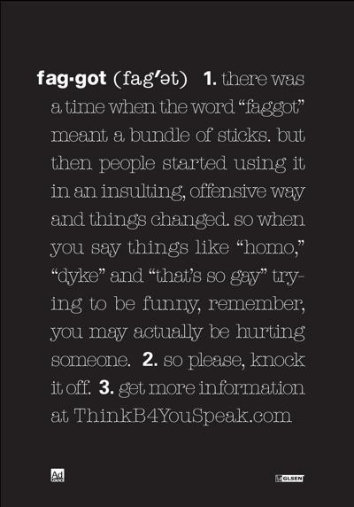 Print Faggot