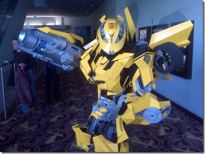Bumblebee-transformer-costume