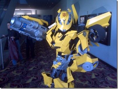 Bumblebee-transformer-costume