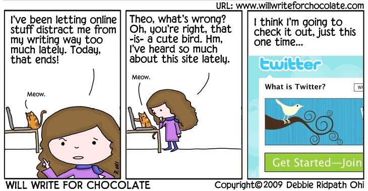 Will Write For Chocolate-Eva Discovers Twitter