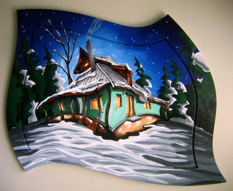 Slocan Valley Strawbale, 2008. One of my most recent holiday commissions.