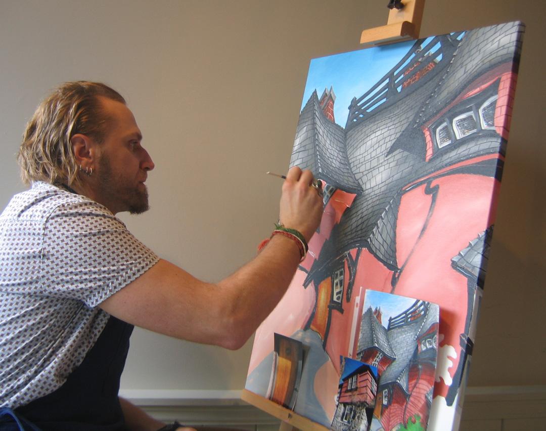 Demo of Glenlyon Norfolk School painting