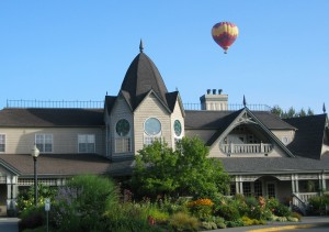 Columbia Winery with balloon