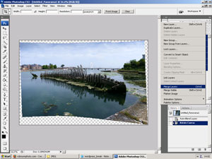 Merge panorama layers