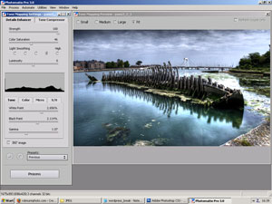 Photomatix editing screen