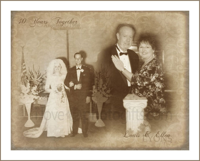 vintage photo collage