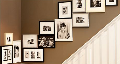 Photo Wall Display provided by Pottery Barn