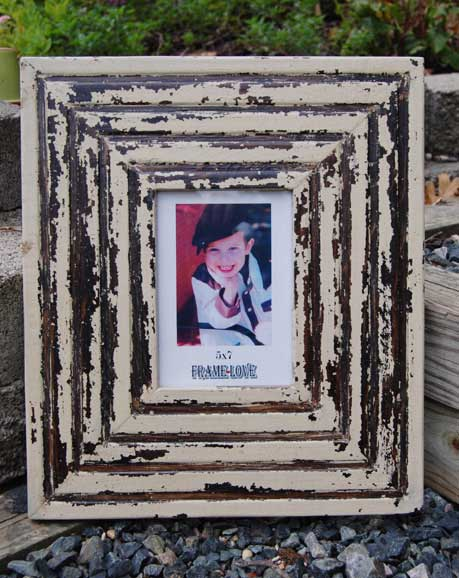 Distressed picture frame by Frame-Love
