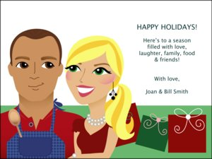 Caricature Holiday Photo Cards by Pose Prints