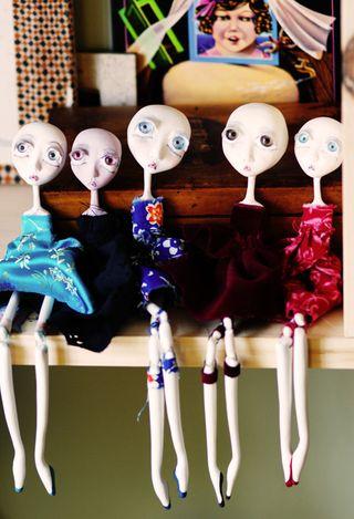 Dolls sitting