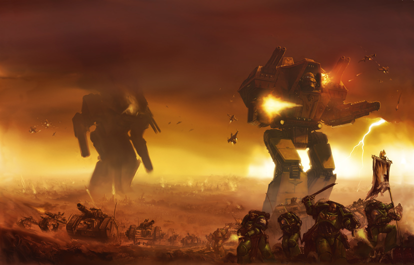Giant robots in the process of making Warhammer 40K more awesome