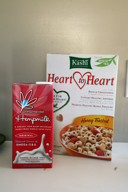Kashi H2H and Hemp Milk