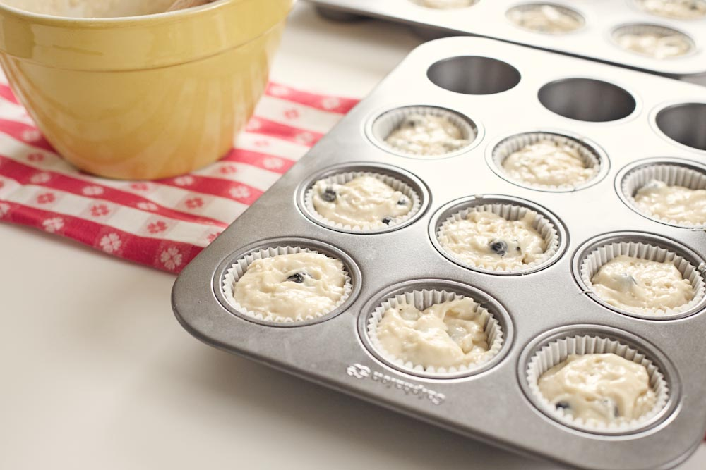 Blueberry Hill Cupcakes with Blueberry Glaze
