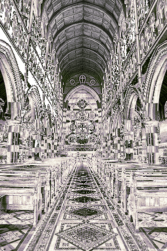 Solarisation_Church Interior