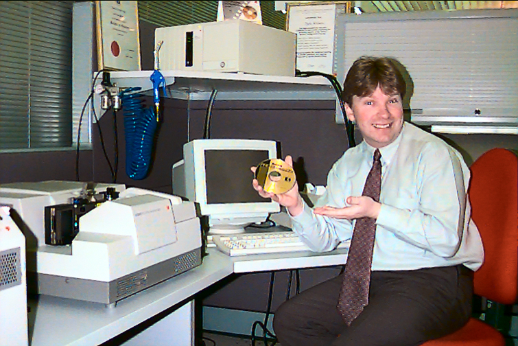 Glenn at Kodak PCD workstation