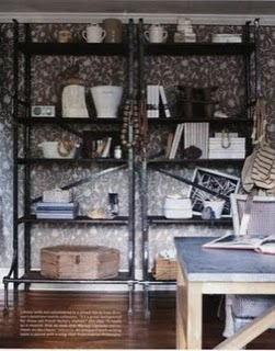 wallpaper-shelves-hard-wood-floors