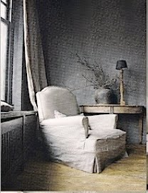 wall-paper-linen-chair-wood-floors