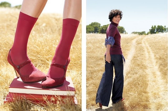 fashion-wide-leg-jeans-red-socks-field