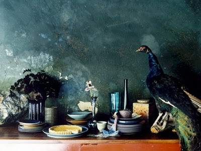 turquoise-table-peacock
