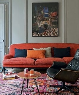 bright-pink-coral-rug-couch