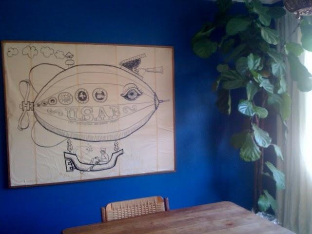 turquoise-blue-dining-room-fiddle-leaf-fig