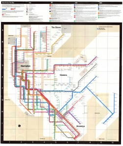 Massimo Vignelli's 1972 NYC subway map, introduced to me by Justin