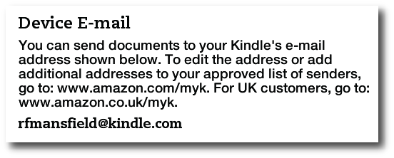 convert pdf to kindle email address