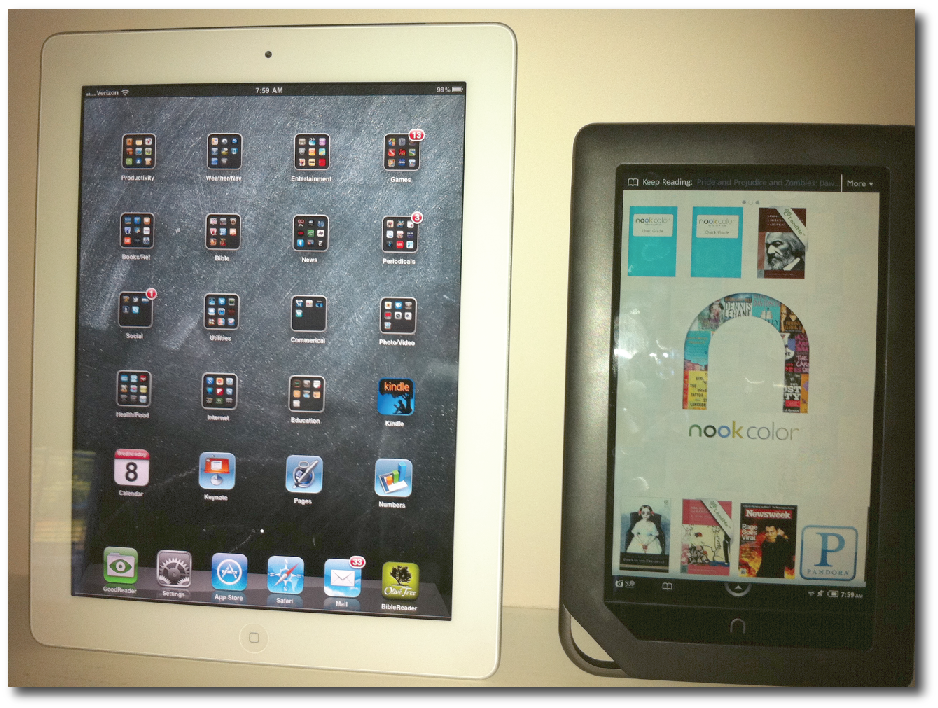 ipad nook color