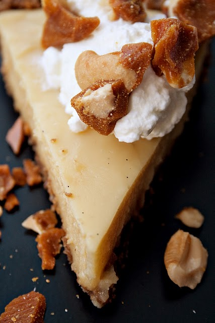 Butterscotch Cream Pie with Gingersnap Crust and Cashew Brittle (via ...