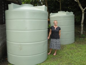 Tanks for Novuatu Village, Kadavu Fiji Islands